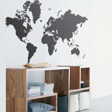 Ferm Living muursticker wereldkaart - Woontrendz