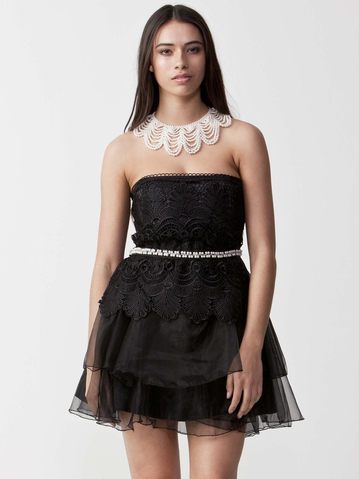 Krystal - Lavish Lace Evening dress with fitted bodice.  Exquisite embroidery finish with pearl jewels.  Wrap overlay skirt and concealed zip. $96.80