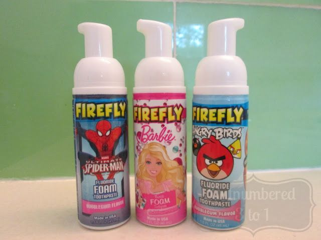 Outnumbered 3 to 1: FireFly's Floride Foam Toothpaste Review & Giveaway ends 7/11