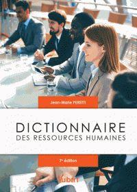 Jean-Marie Peretti - Dictionnaire des ressources humaines. - Agrandir l'image