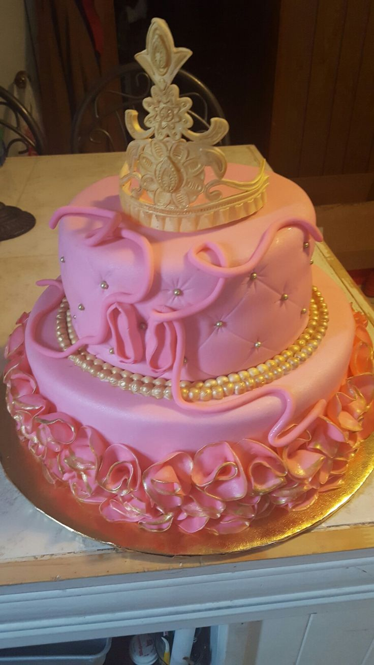 Princess ballerina baby shower cake | my cakes!! | Baby ...