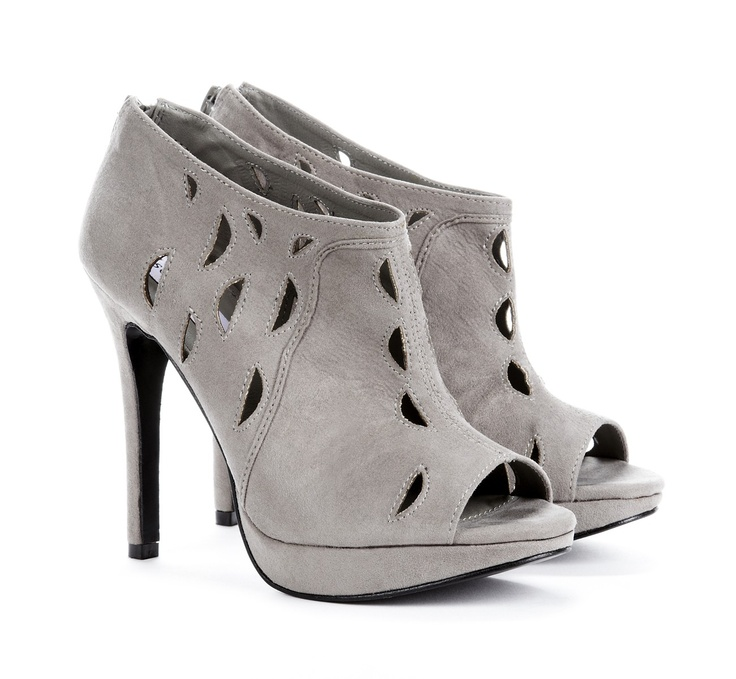 Liana Grey Ankle BootieAnkle Booty, Ankle Boots, Gray Booty, Cutout Booty, Grey Ankle, Cut Out, Society Liana, Grey Shoes, Sole Society