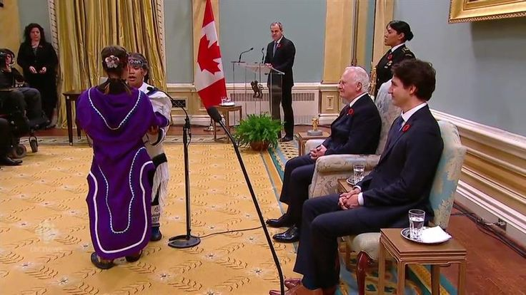 11-year-old Inuit girls Samantha Metcalfe and Cailyn Degranpre delighted all with traditional throat-singing at Prime Minister Justin Trudeau's Swearing in ceremony.