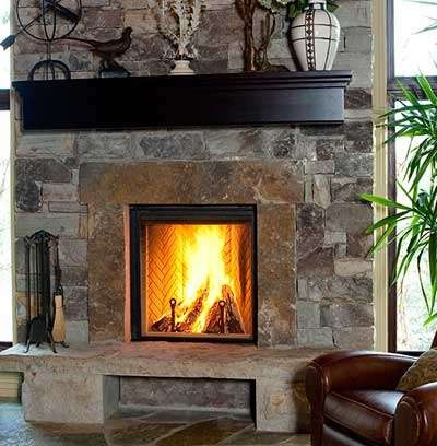 33 best stone fireplaces images on Pinterest | Stone fireplaces ...