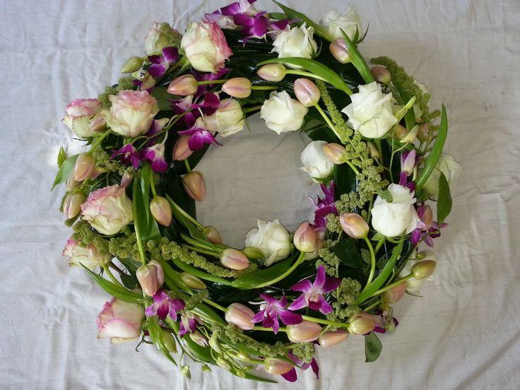 Couronne deuil moderne - Fleurs Palaiseau