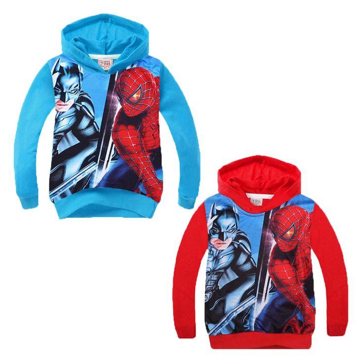 Boys outerwear coat cartoon 2016 autumn boys coat long sleeve outerwear cartoon Batman spiderman kids Boy outerwear coat cartoon