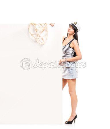 chica sexy sailor — Imagen de stock #46015901
