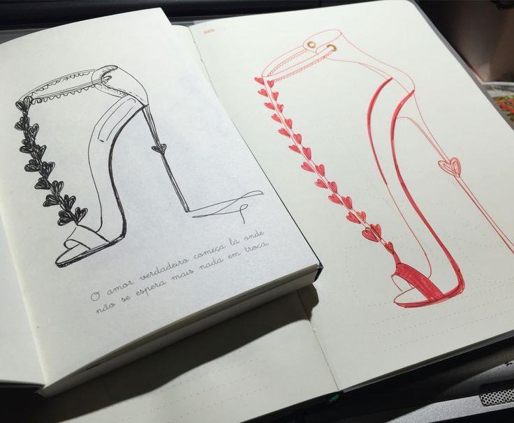 Sketch Love Shoe