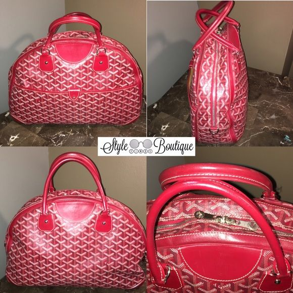 Goyard Purse Gently used Red Goyard pay cheaper via PayPal NO TRADE.  100% Authentic from Barneys NY with Dust bag Goyard Bags Satchels