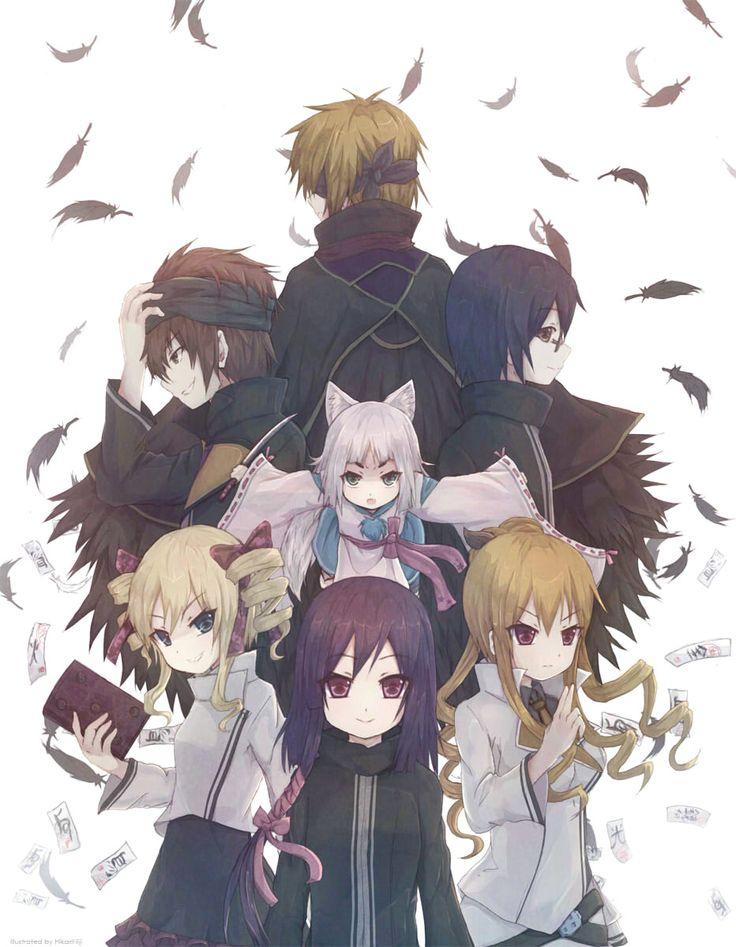 Tokyo Ravens - Harutora, Kon, Kyouko, Natsume, Suzuka, Tenma and Touji art by hikari niji (Sankaku Channel)