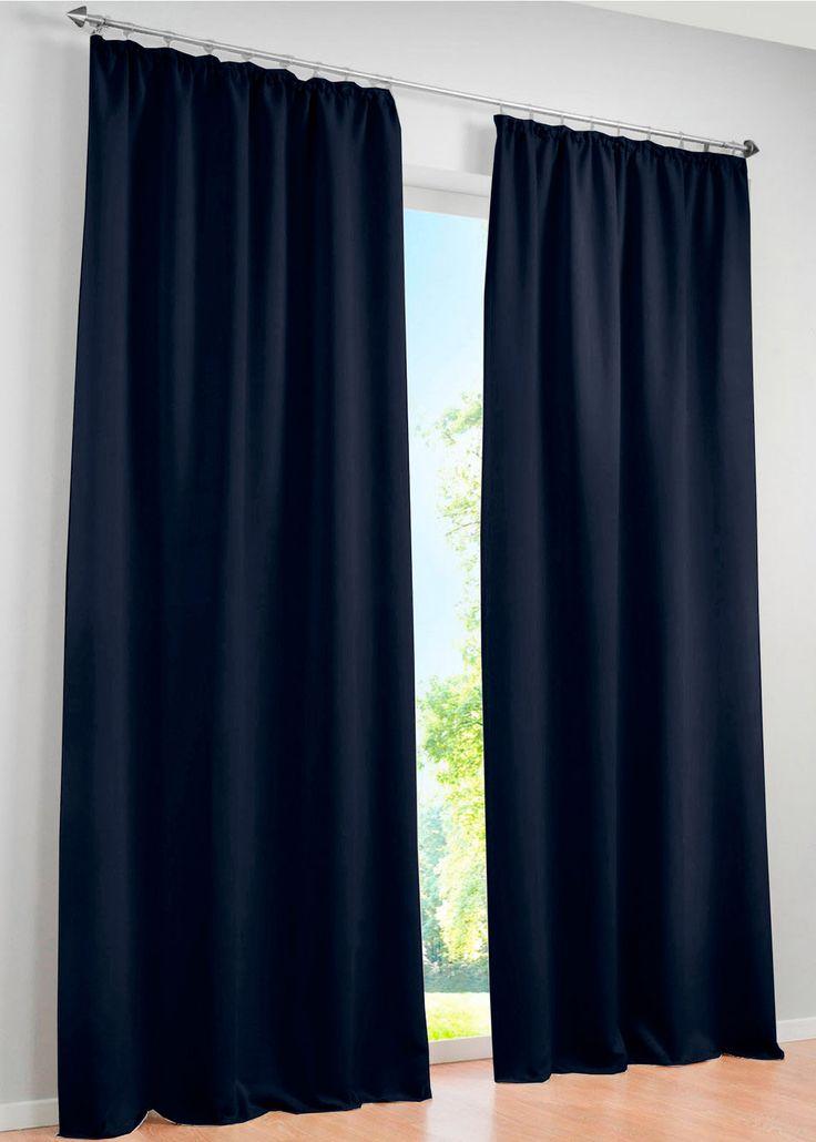 "Vorhang ""Verdunkelung"", (1er-Pack), Kräuselband  blau - bpc living jetzt im…"