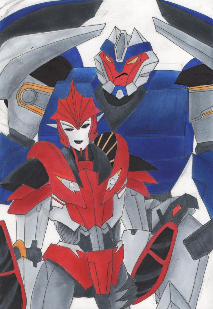 Transformers prime tfp breakdown knockout draw art work copic markers