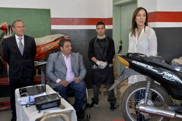 Vidal visitó los talleres de trabajo de la unidad penal de Florencio Varela