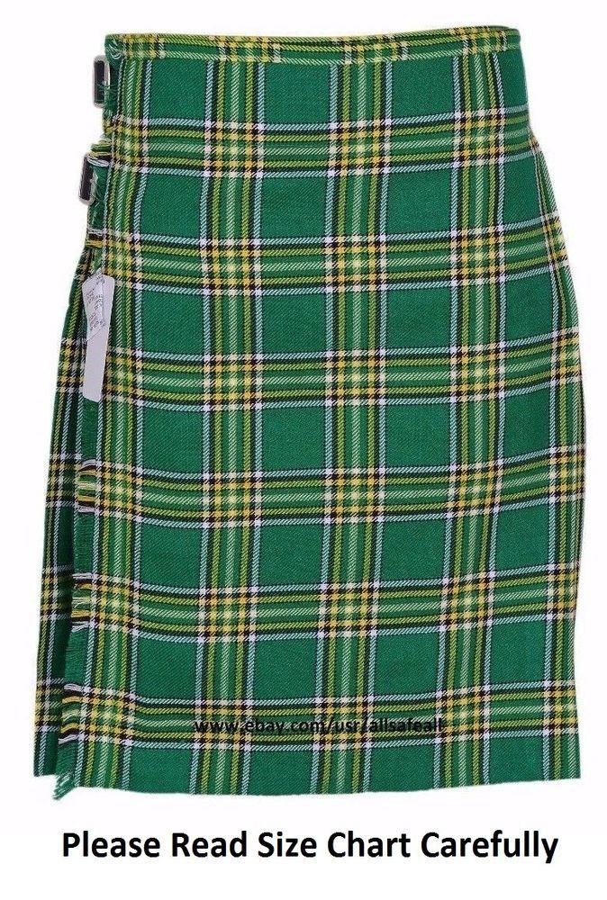 Irish Heritage Men's 5 Yard 13oz Casual Wear, Light Weight, Scottish Tartan Kilt #AllSafe #Kilt