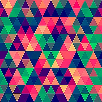 Vector Abstract Pixel Triangle Pattern
