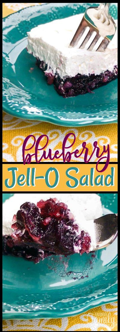 This Blueberry Jell-O Salad salad recipe is a fun variation from the original Jell-O salad. It's the perfect side for picnics, parties, and barbecues.