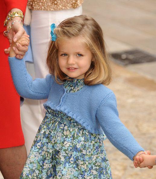 Leonor of Spain (Born 2005). Daughter of Felipe, Prince of Asturias, and Letizia, Princess of Asturias.