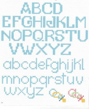 32 alfabetes em ponto de cruz                                                                                                                                                                                 Mais