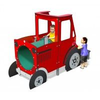 Young farmers will love our jolly red Play Tractor; whether they're ploughing the fields or acting out a favourite farming nursery rhyme or story! Role play opportunities are endless.