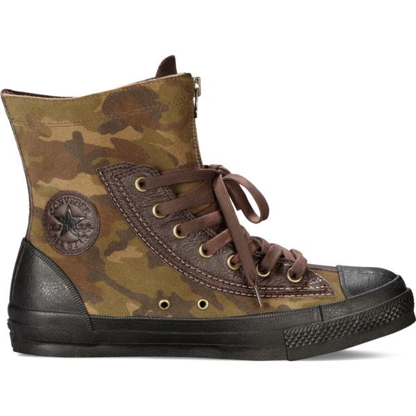 Converse Chuck Taylor All Star Combat Boot – camo Sneakers ($70) ❤ liked on Polyvore featuring shoes, sneakers, camo, converse shoes, camo footwear, camouflage footwear, military shoes and camouflage shoes