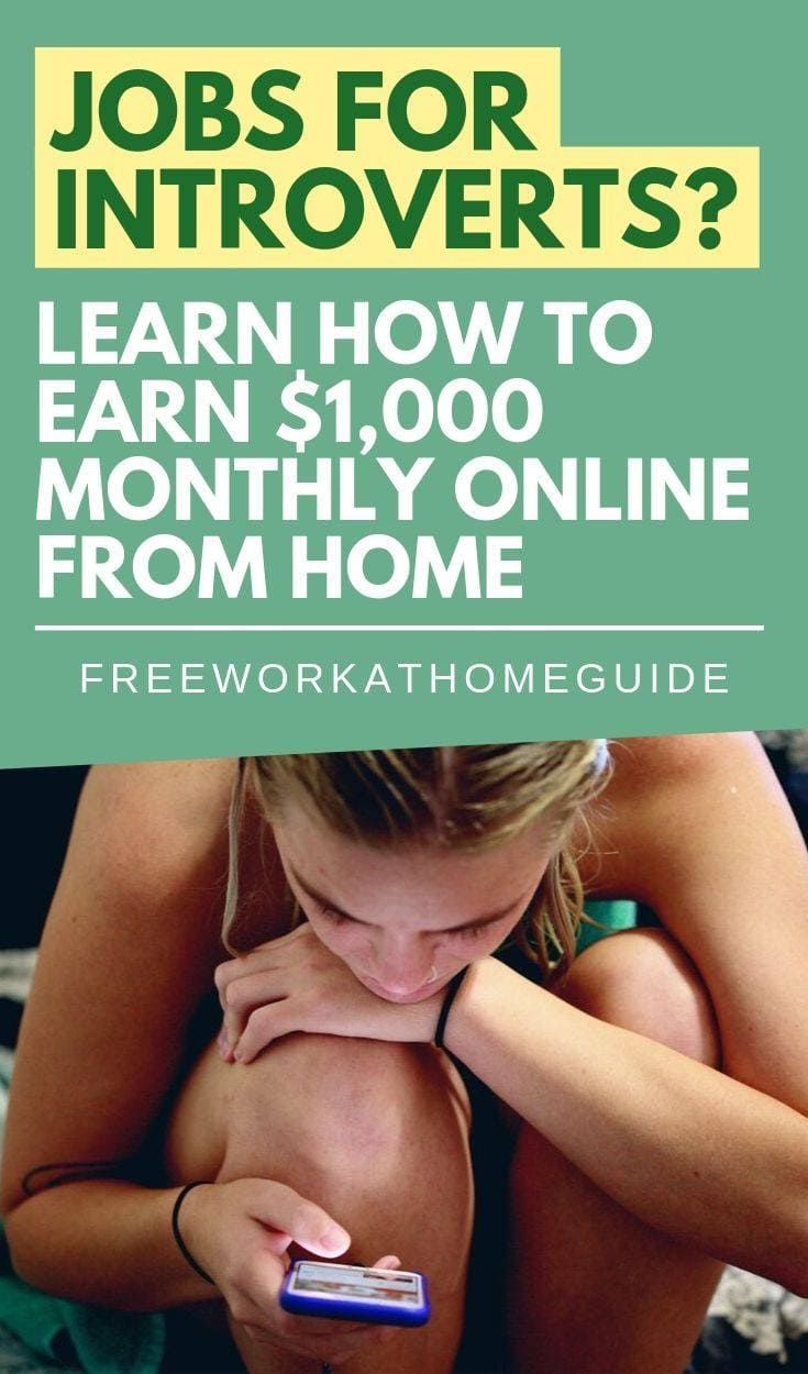 Jobs for Introverts? Learn How to Earn $1,000 Monthly Online from Home
