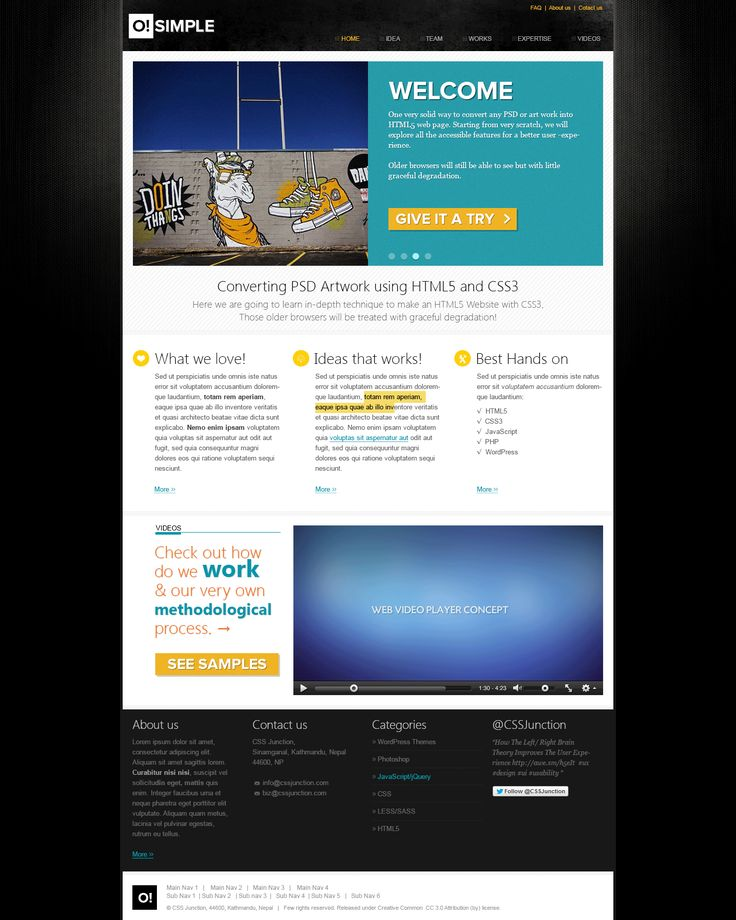 O simple free website psd template free psd templates pinterest psd templates template for Pinterest template psd