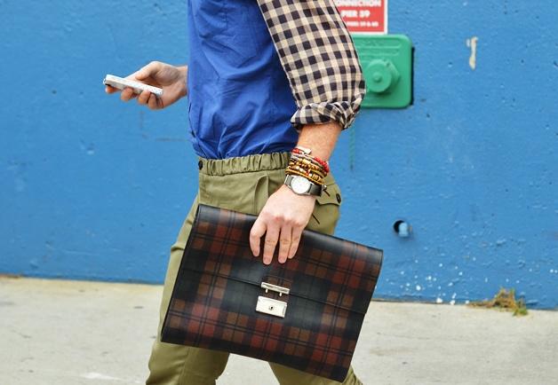 details, baby.Stacked Bracelets, Fashion Weeks, Men Style, Men Bags Prada, Men Fashion, Tommy Ton Men, Men Street Style, Fashion Accessories, New York Fashion