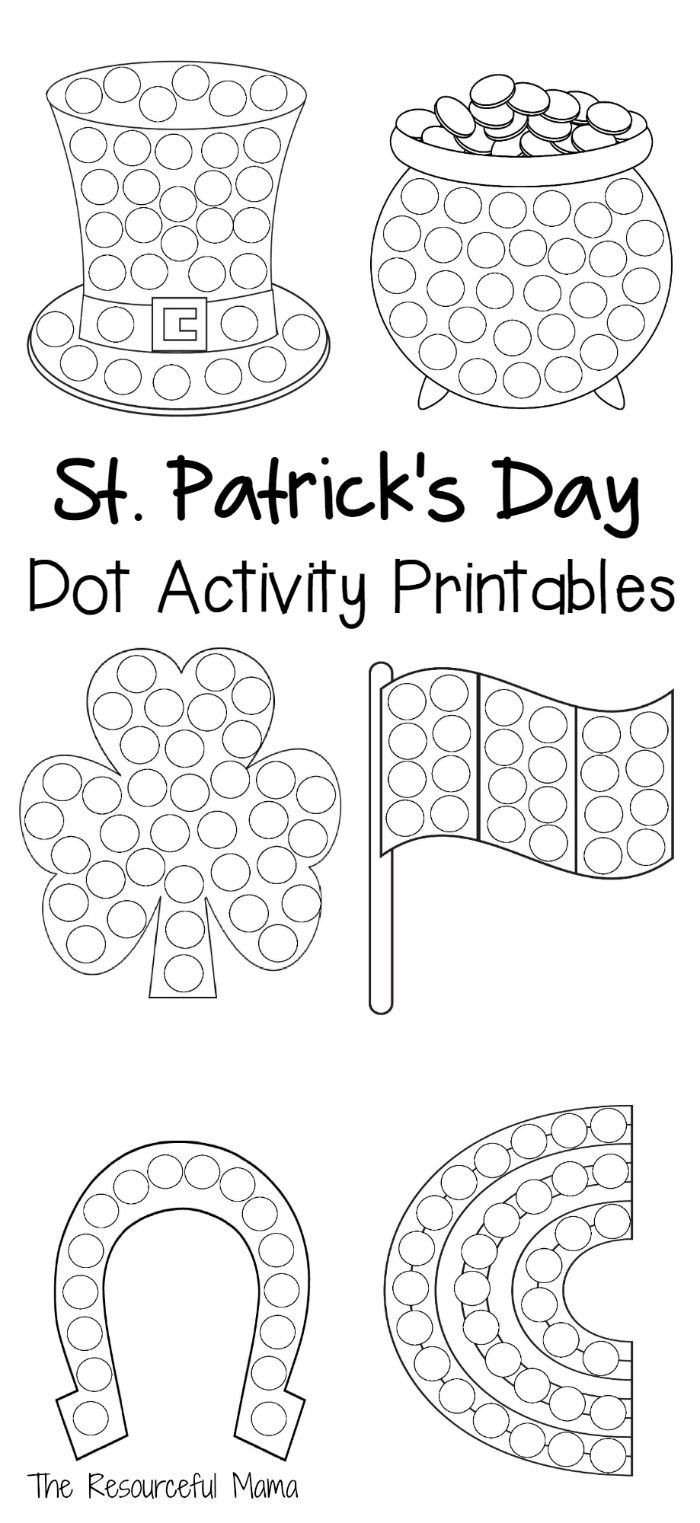 worksheet Shamrock Worksheet 33 best st patricks day activities for special education images on dot activity printables