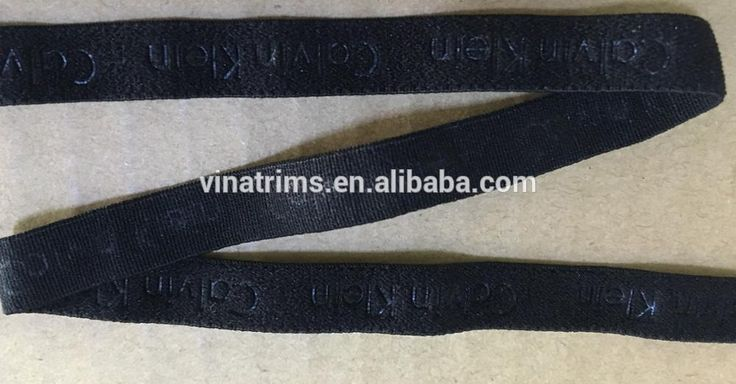 10mm nylon elastic with heat pressed logo