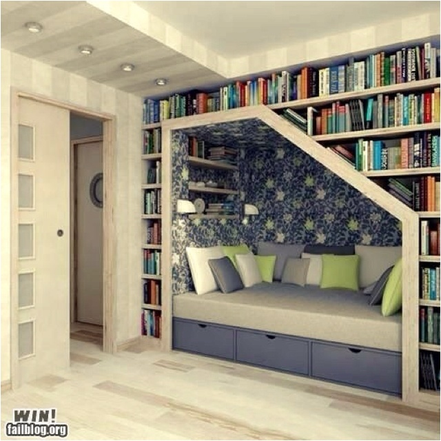 built-in book shelf and bench storage this is dreamy