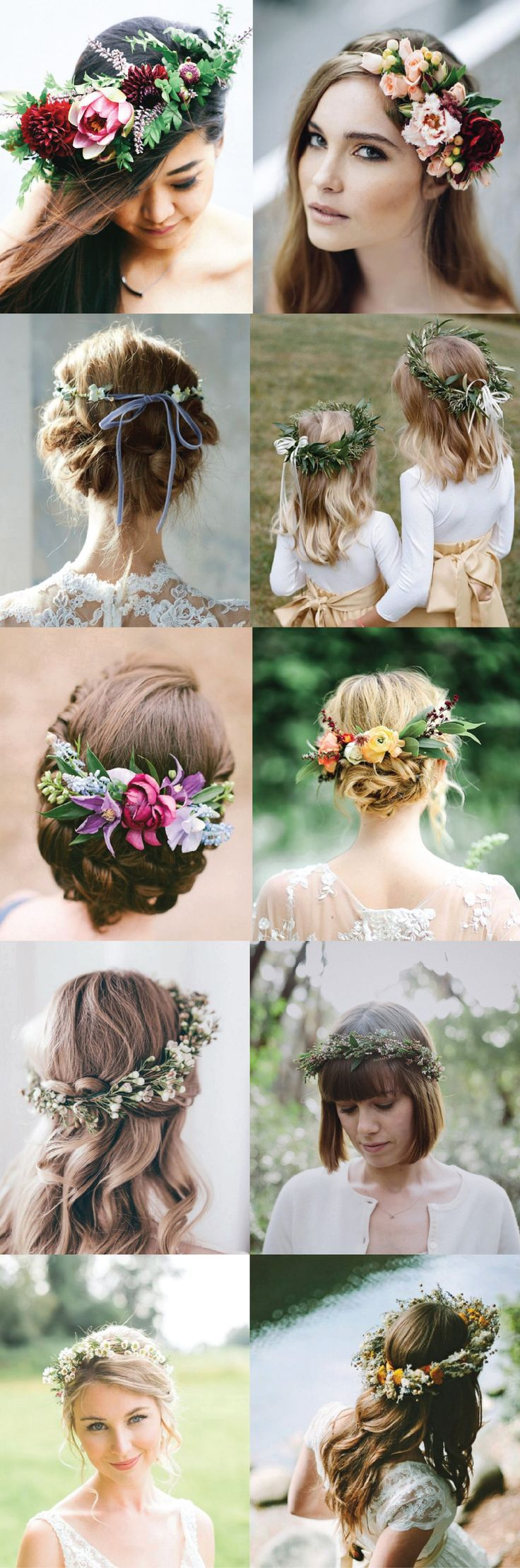5 Ways to Style Your Wedding Hair Up! Flower crowns, ribbon back ties, and more! alles für Ihren Erfolg - www.ratsucher.de