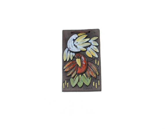 Stylish vintage retro Wall hanging Plaque / Tile / Relief with