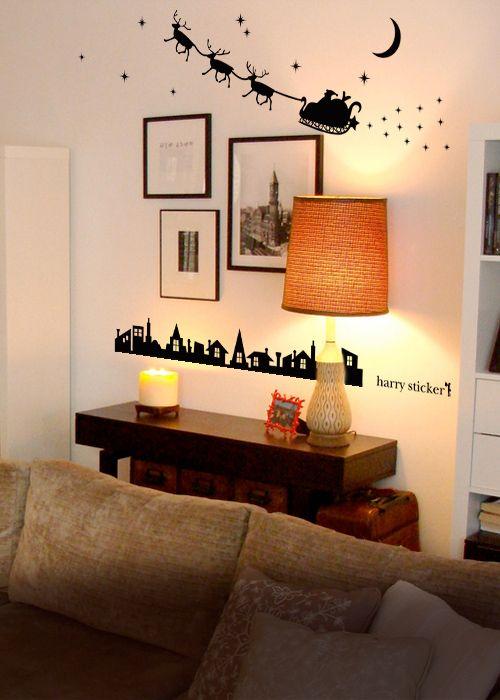 wallsticker santaclaus Wallpaper interior Design