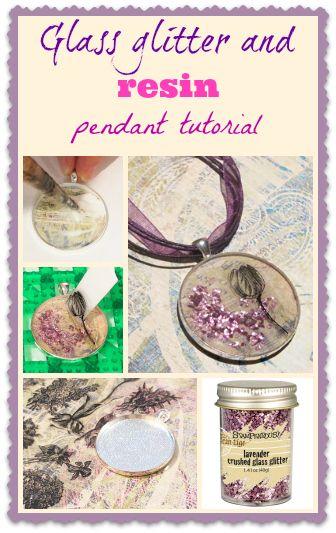 Resin Obsession blog:  DIY resin and glitter pendant