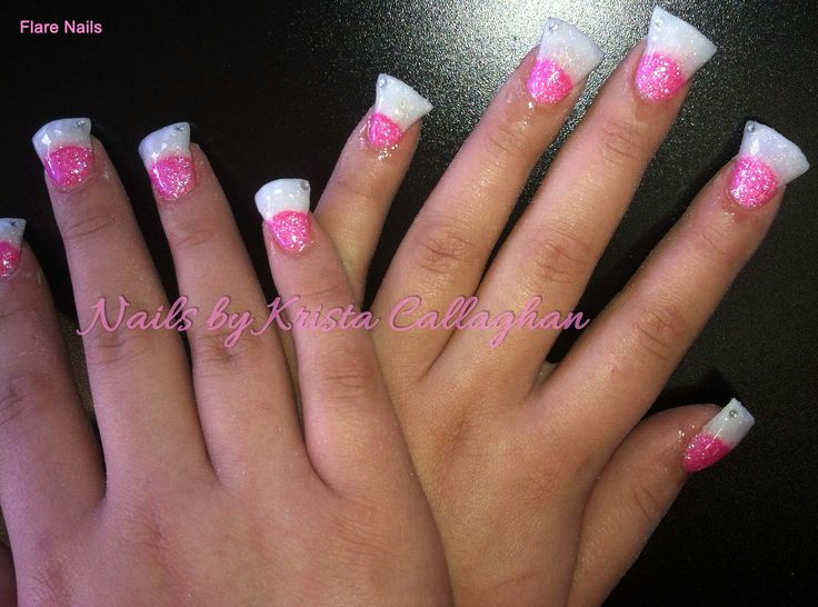 Flare Acrylic Nails Sugar N Spice Salon Butte, MT 59701 406-782-0000