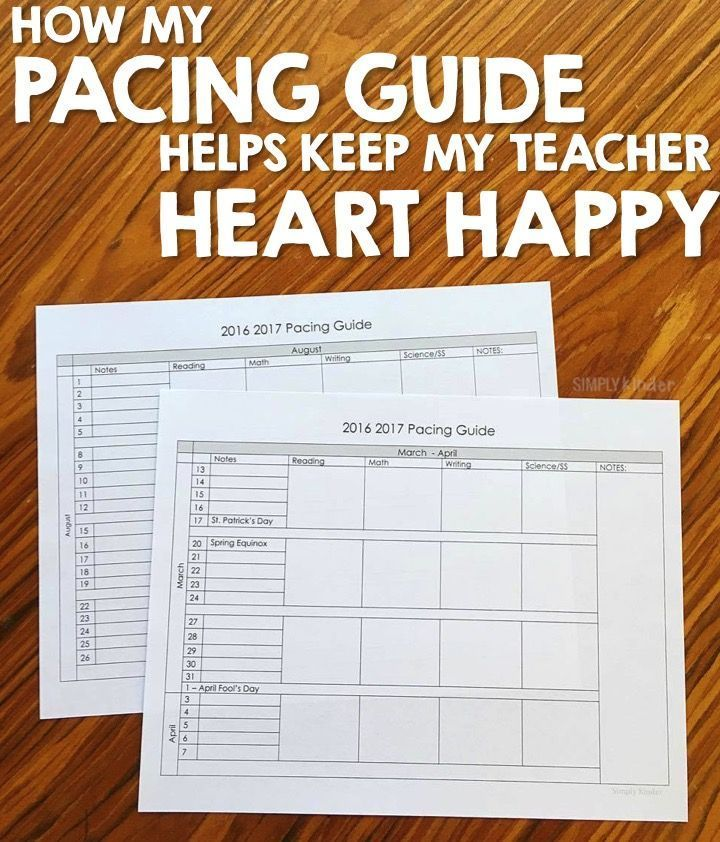 Free Pacing Guide for Any Grade Level! - Simply Kinder