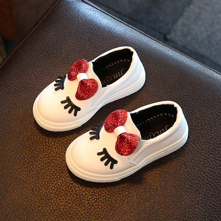Niños niñas otoño shoes con arco de moda zapatilla de deporte de los niños del bebé casual sport shoes impermeable antideslizante zapato lindo