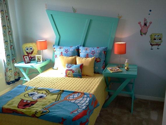 Kids Room Handmade Spongebob Bedroom Suite 695 00 Via Etsy