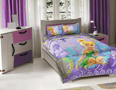 3 Piece Disney Tinkerbell Fairy Wonder Twin Comforter Set $39.99 (63% OFF)