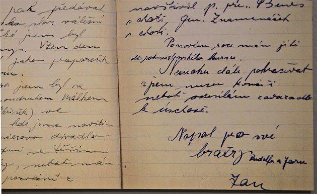 Deník Jana Kubiše.
