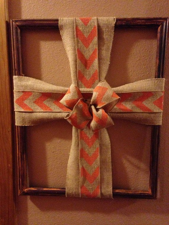 Cross Picture Frame By Jillycraft On Etsy Wreaths