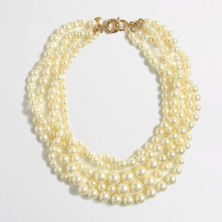 Dear SF: this is the newest jewelry addition. I couldn't say no to a classic multistrand pearl necklace! --xoxo, Kim