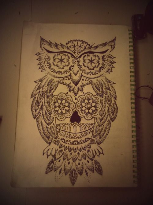 sugar skull owl tattoo designs - Google Search