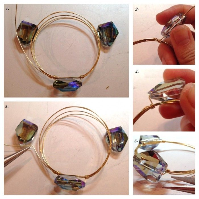 Bangle Bracelet Wire Wred How To Make A Three Stone Braclets Out Of