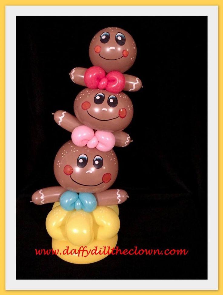 Gingerbread Totem Balloon