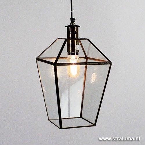 Hanglamp lantaarn brons Sonderholm - www.straluma.nl