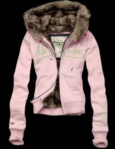 Abercrombie and Fitch Trista Womens Faux Fur Hoodie