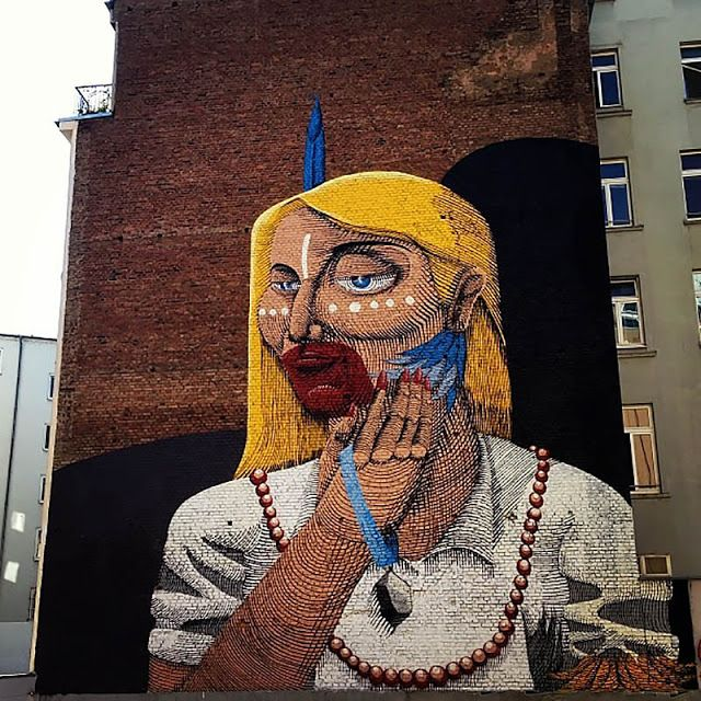Street Art By Brazilian Painter Nunca On The Streets Of Frankfurt, Germany.