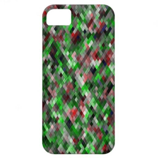 Harlequin _Sap Green_501a - by Greta Thorsdottir - iPhone 5 case from Zazzle