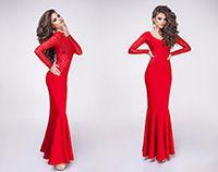 Вечернее платье Elza красное